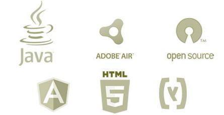 Web apps with Java, Flex, Ext JS, HTML5, AIR, RIA
